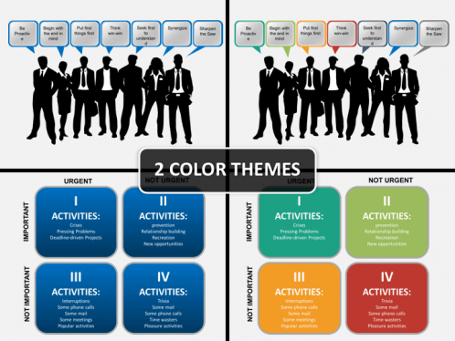 7 Habits of Stephen Covey PowerPoint Template   SketchBubble