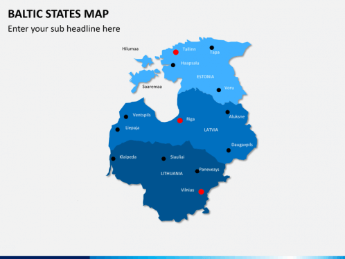 Baltic States Map PowerPoint SketchBubble
