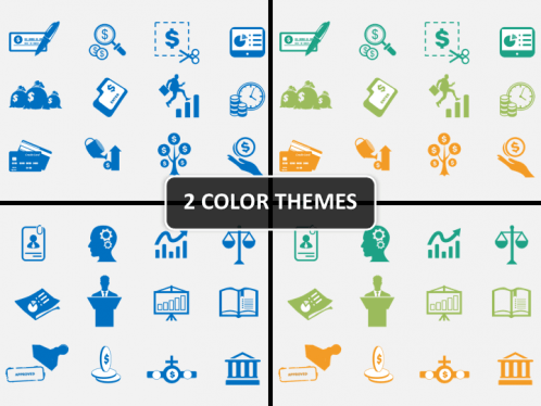 business and finance icons powerpoint sketchbubble