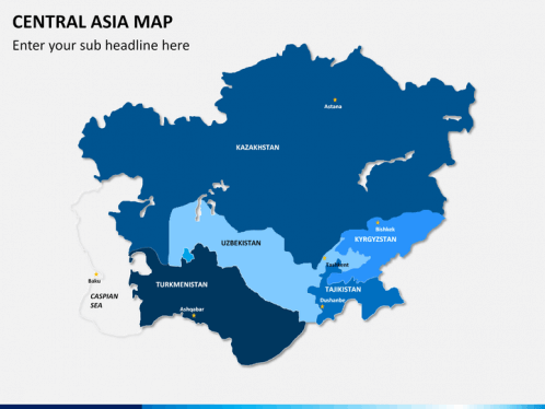 Central Asia Map PowerPoint | SketchBubble