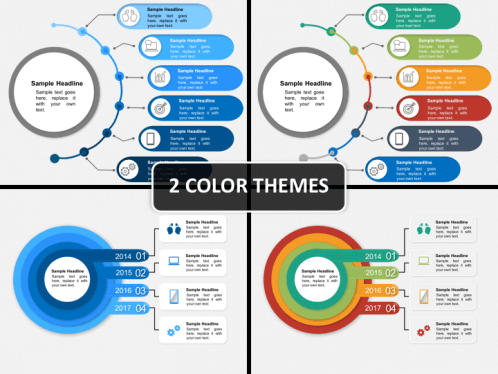 Circular Timeline PowerPoint Template | SketchBubble