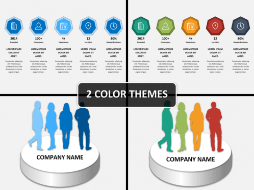 company profile presentation powerpoint template sketchbubble