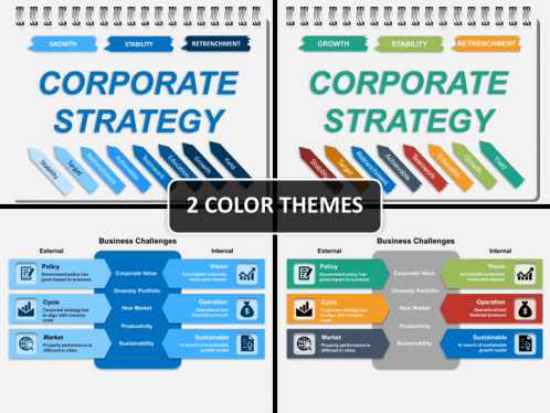 Corporate Strategy PowerPoint Template | SketchBubble