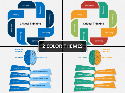 critical thinking powerpoint template sketchbubble