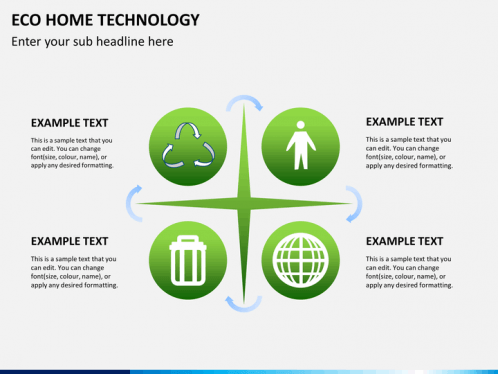 Eco Home Technology PowerPoint Template | SketchBubble