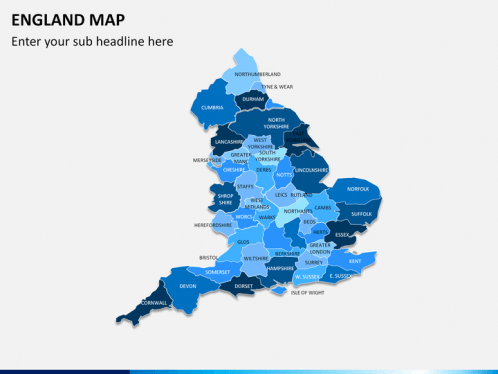 England Map PowerPoint SketchBubble