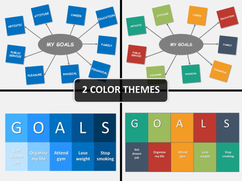 Goals setting powerpoint template sketchbubble previous next goals setting ppt toneelgroepblik Images