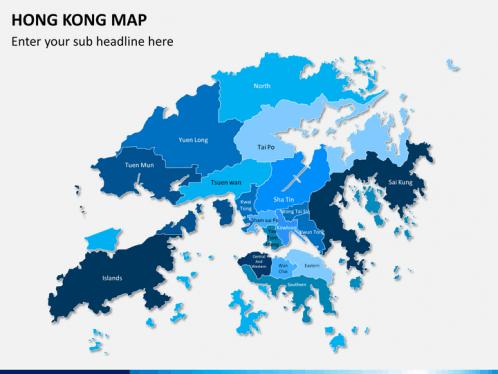 Hong Kong Map Powerpoint Sketchbubble