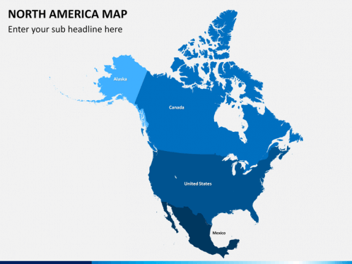 North America Map PowerPoint SketchBubble - Usa map ppt