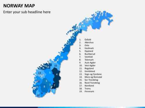 Norway Map PowerPoint SketchBubble
