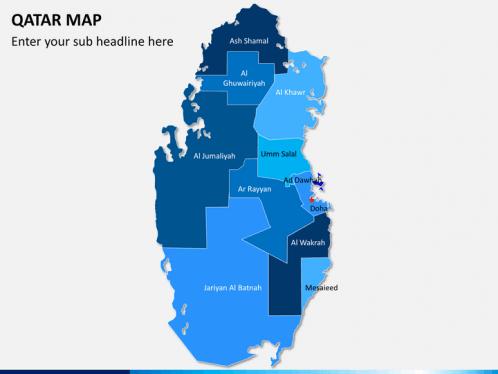 Qatar Map PowerPoint SketchBubble - Qatar map