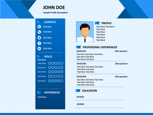Professional Resume PowerPoint Template | SketchBubble