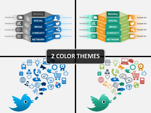 social media powerpoint template sketchbubble