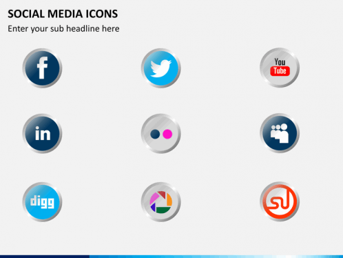 social media icons powerpoint sketchbubble