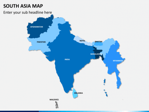 South Asia Map PowerPoint SketchBubble