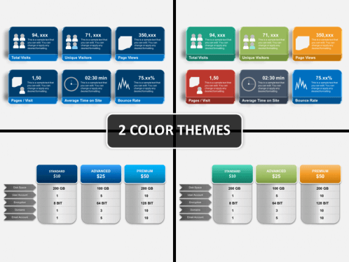 website dashboard powerpoint template | sketchbubble, Presentation templates