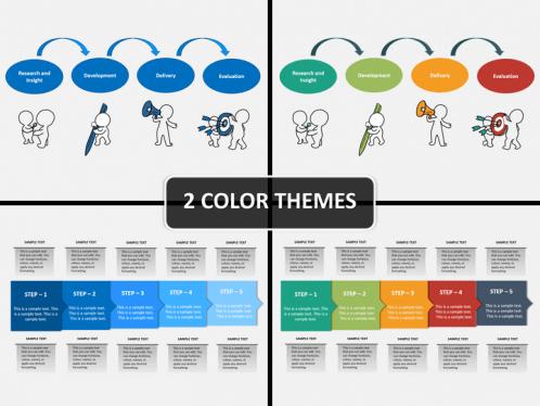 Work Process Steps PowerPoint Template SketchBubble - Process steps template