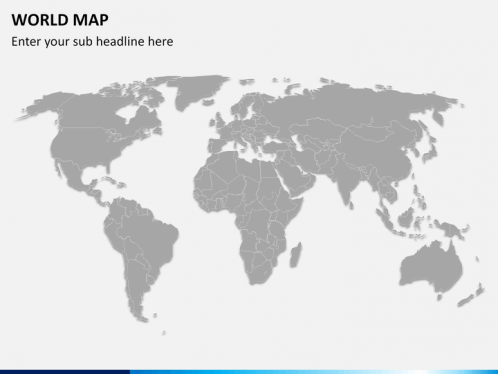 world map ppt slide 2