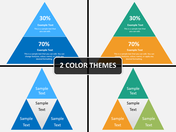 2D pyramid PPT cover slide