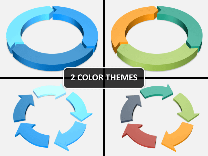 3d circular arrows PPT cover slide