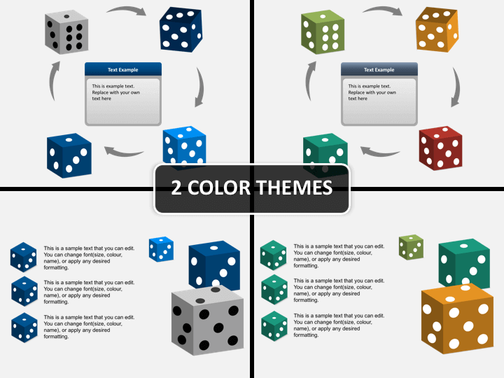 3D dices PPT cover slide