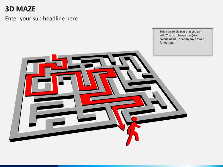 3D maze PPT slide 1
