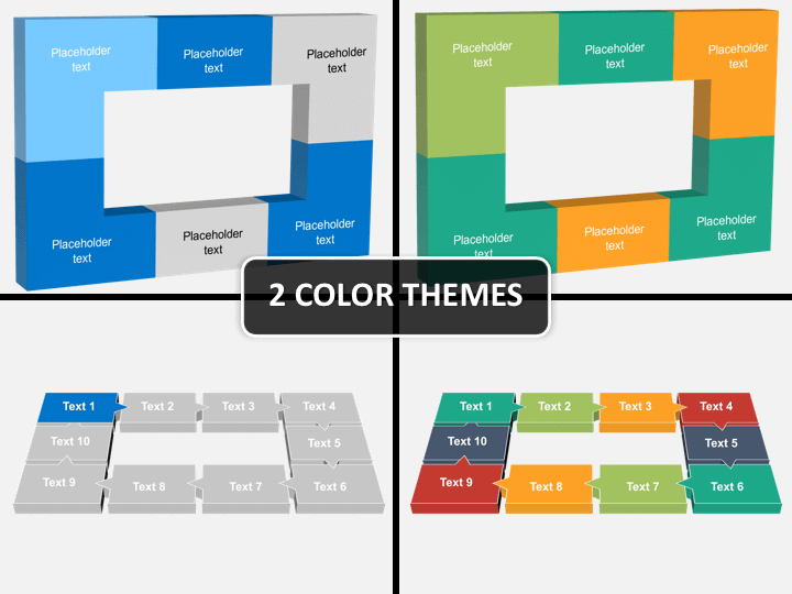 3D rectangle PPT cover slide