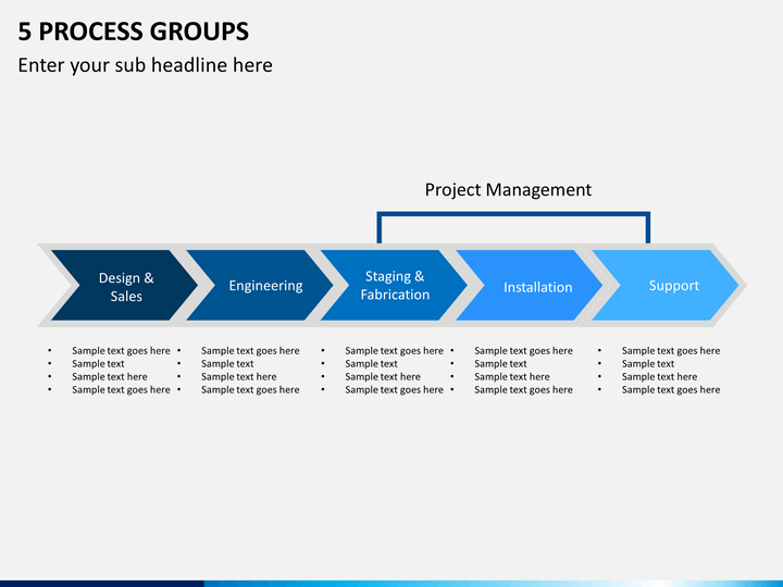 5 process groups powerpoint template sketchbubble