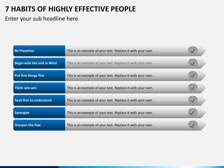 Contemporary 7 Habits Of Highly Effective People Planner Template ...