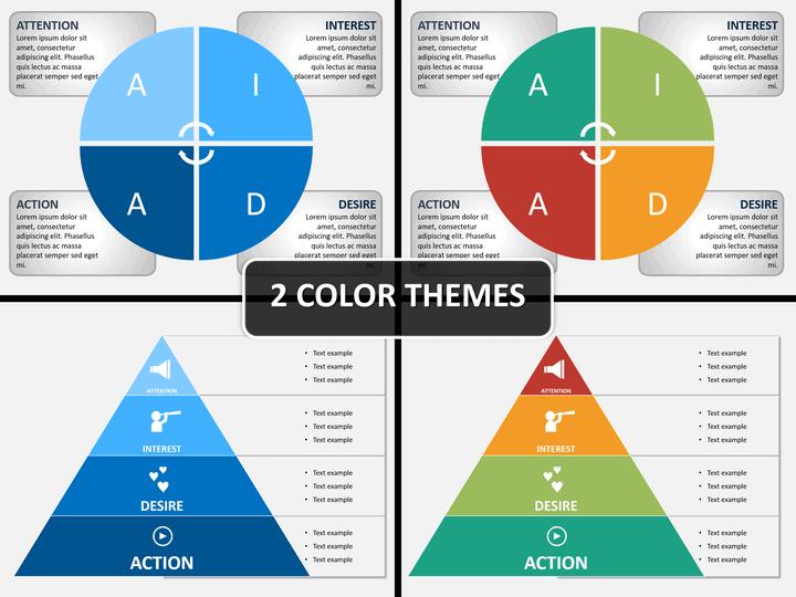 AIDA model PPT cover slide