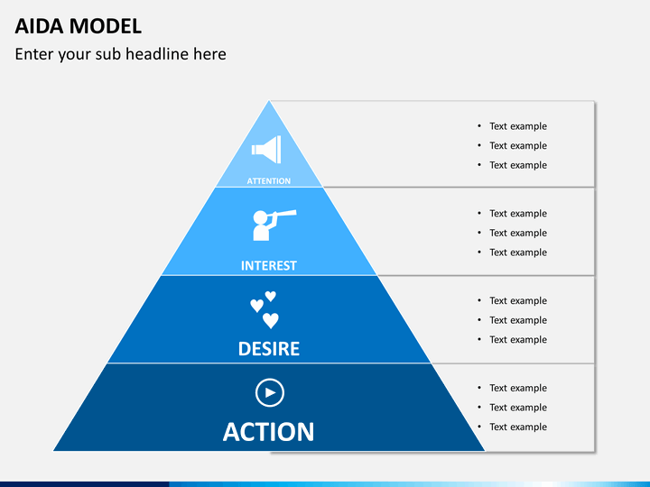 AIDA Model PowerPoint Template | SketchBubble