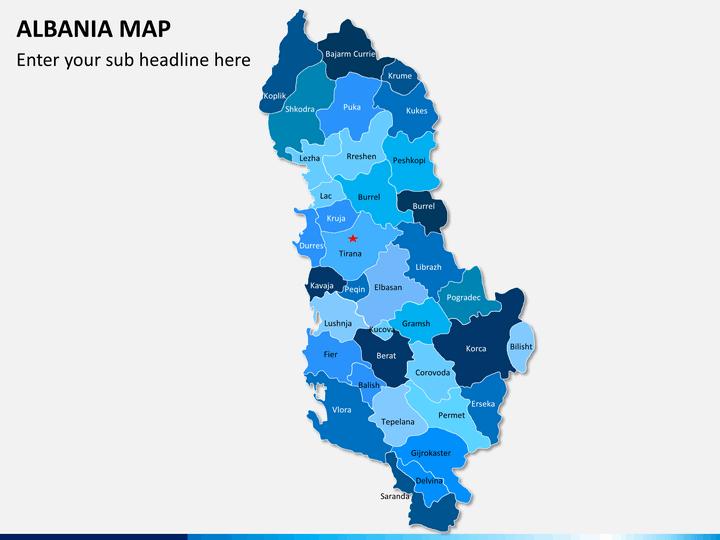 Albania map PPT slide 1