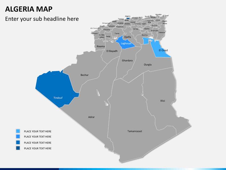 Algeria map PPT slide 7