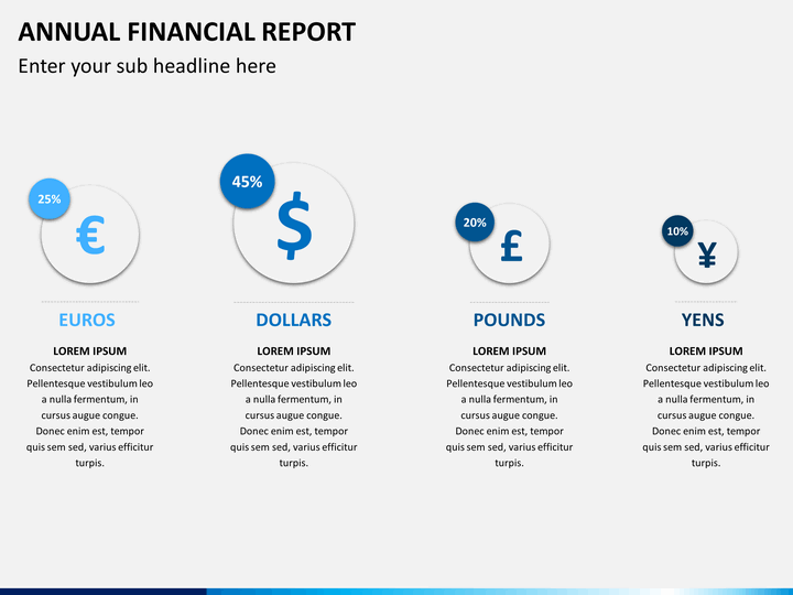 annual financial report powerpoint template