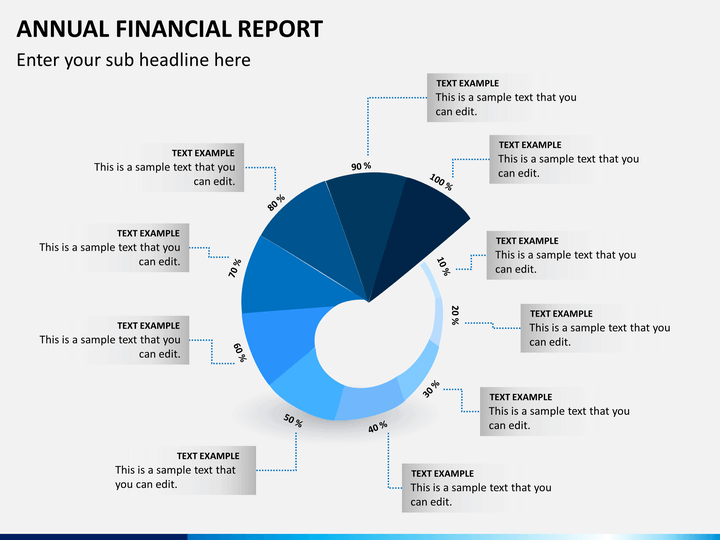 annual financial report powerpoint template sketchbubble