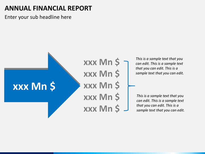 ... Annual Financial Report PPT Slide 6 ...  Annual Financial Report Sample