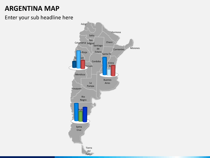 Argentina Map PowerPoint SketchBubble - Argentina 3d map