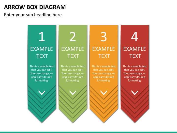 Arrow Box Diagram PowerPoint Template SketchBubble