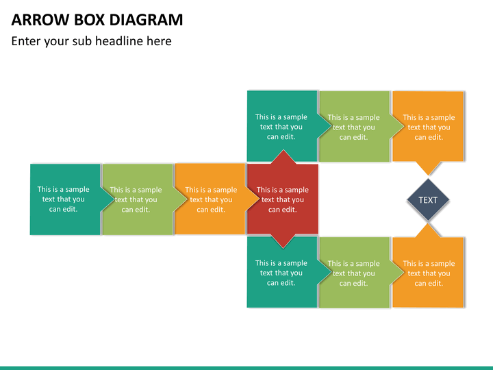 Arrow Box Diagram Powerpoint Template