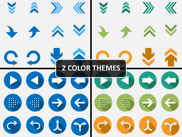 Arrow Icons PPT cover slide