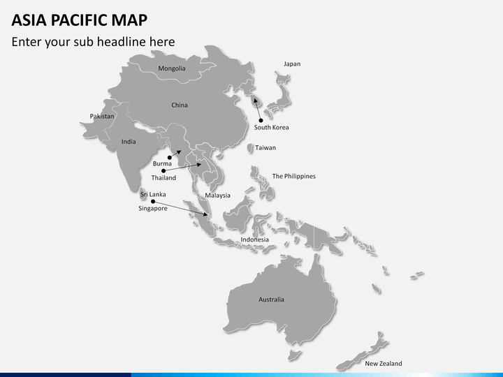 Asia - Pacific (APAC) map