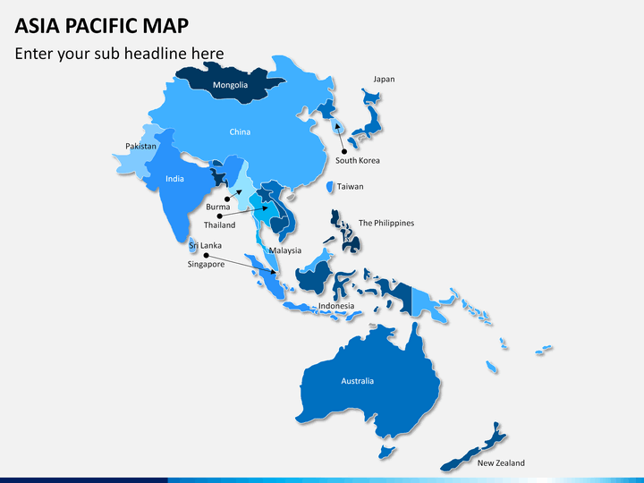 Map Of Asia Japan And China.Asia Pacific Apac Map Powerpoint Sketchbubble