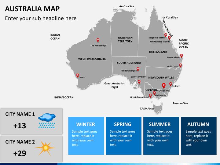 Australia Map Powerpoint Sketchbubble