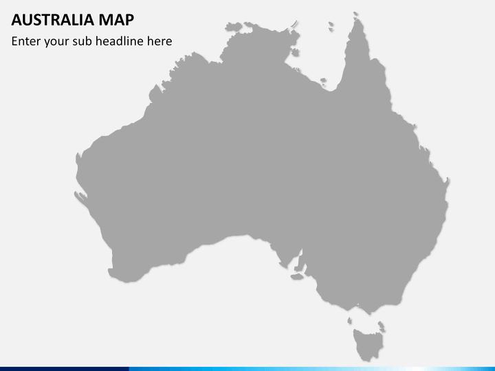 Australia Map Grey.Australia Map Powerpoint Sketchbubble