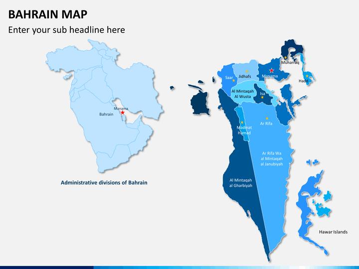 Bahrain Map Powerpoint