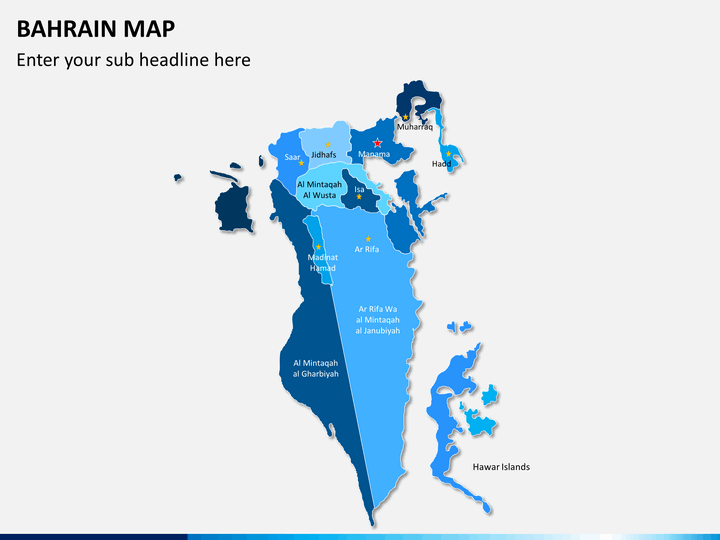 Bahrain map PPT slide 2