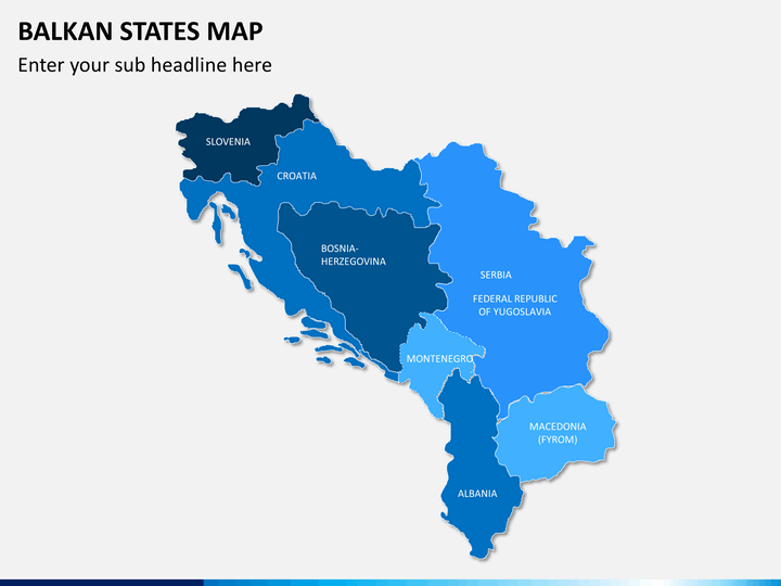 Balkan states map PPT slide 2