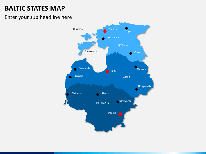 Baltic States Map PowerPoint | SketchBubble