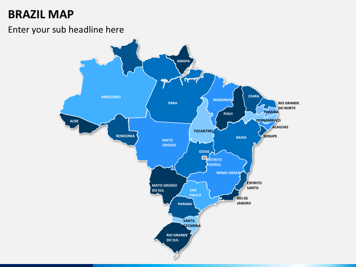 Brazil map PPT slide 16