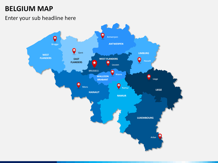 Belgium map PPT slide 2